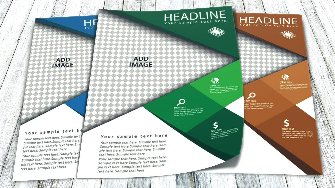 brochure templates for illustrator - illustrator tutorial business flyer design youtube