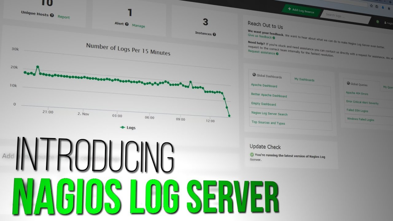 Introducing Nagios Log Server 2 - Dauer: 41 Sekunden