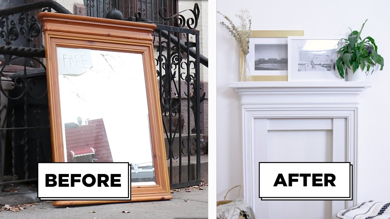 Turn An Old Frame Into A Faux Fireplace Youtube