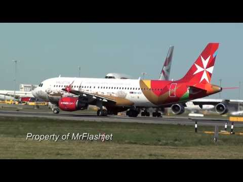 Air Malta (Valletta Jet) A320 {9H-AEO} HEATHROW PLANE SPOTTING Flight Departures