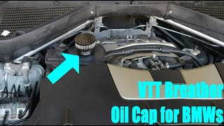 homepage tile video photo for VTT Crankcase Breather Oil Cap for BMW