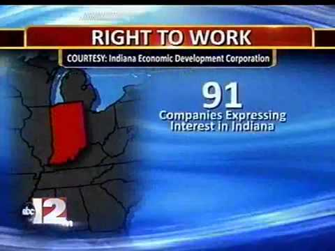 Indiana Thriving Year After Right-to-Work Law Passed