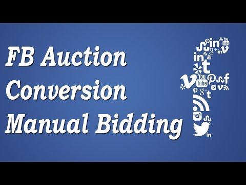 Facebook Auction Live   Conversion Optimization, Delivery, Manual Bidding