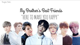 "BTS FF | My Brother's Best friends Ep. 1 - ""Here to make you happy"""
