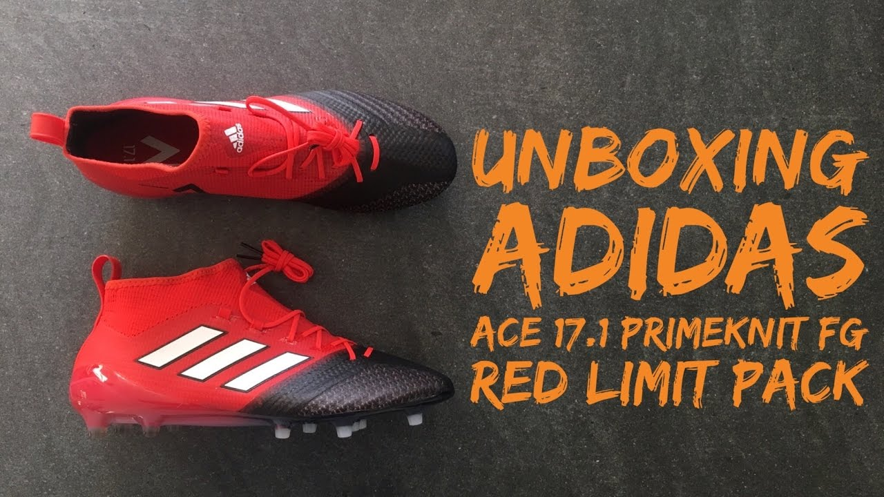 best loved eb37e 84977 Adidas ACE 17.1 Primeknit FG 'Red Limit Pack' | UNBOXING | football shoes |  2016 | HD