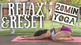 20 Minute Guided Yoga to RELAX & RESET