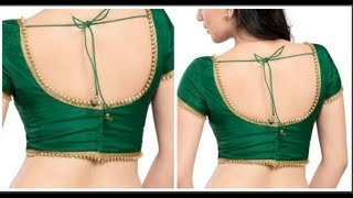 Back  Open Blouse Cutting & Stitching In Simple And Easy Method TAMIL