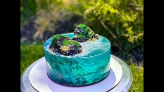 ISLAND CAKE TUTORIAL| OCEAN JELLY | JELLO CAKE| CAKE TRENDS 2020