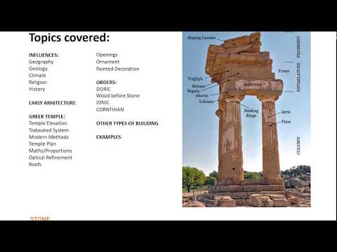 StoneCarving.co VIdeo - Classical Greek Architecture Part 1