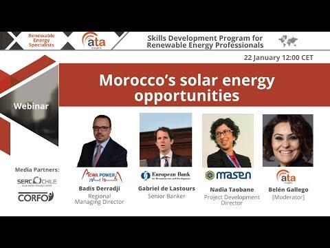Webinar: Morocco's solar energy opportunities