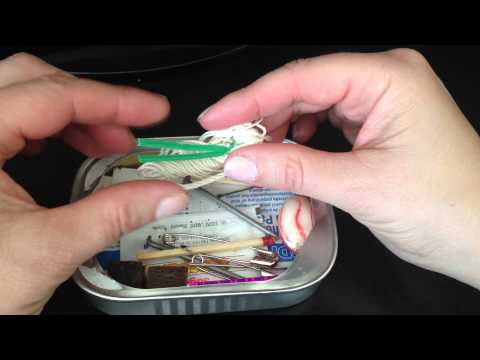 Opening The Survival Kit In A Can