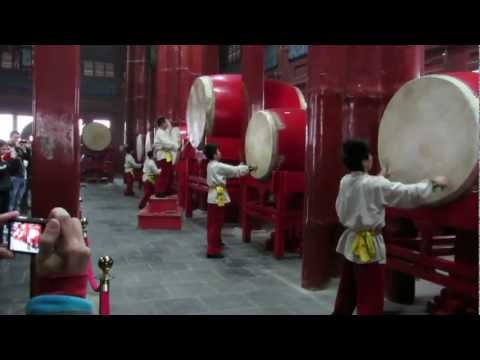 Drum Performance at Beijing Drum Tower