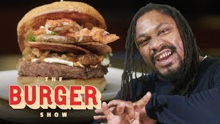 Download Marshawn Lynch Goes Beast Mode on a $1200 Burger in Las Vegas   The Burger Show Mp3 and Videos