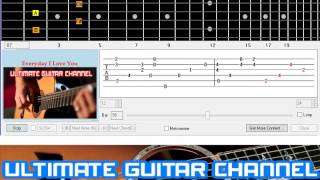 [Guitar Solo Tab] Everyday I Love You (Boyzone)