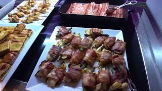 Барселона - завтрак в гостинице ILUNION Bel Art, Carrer de Lepant, 406, 08025 Barcelona
