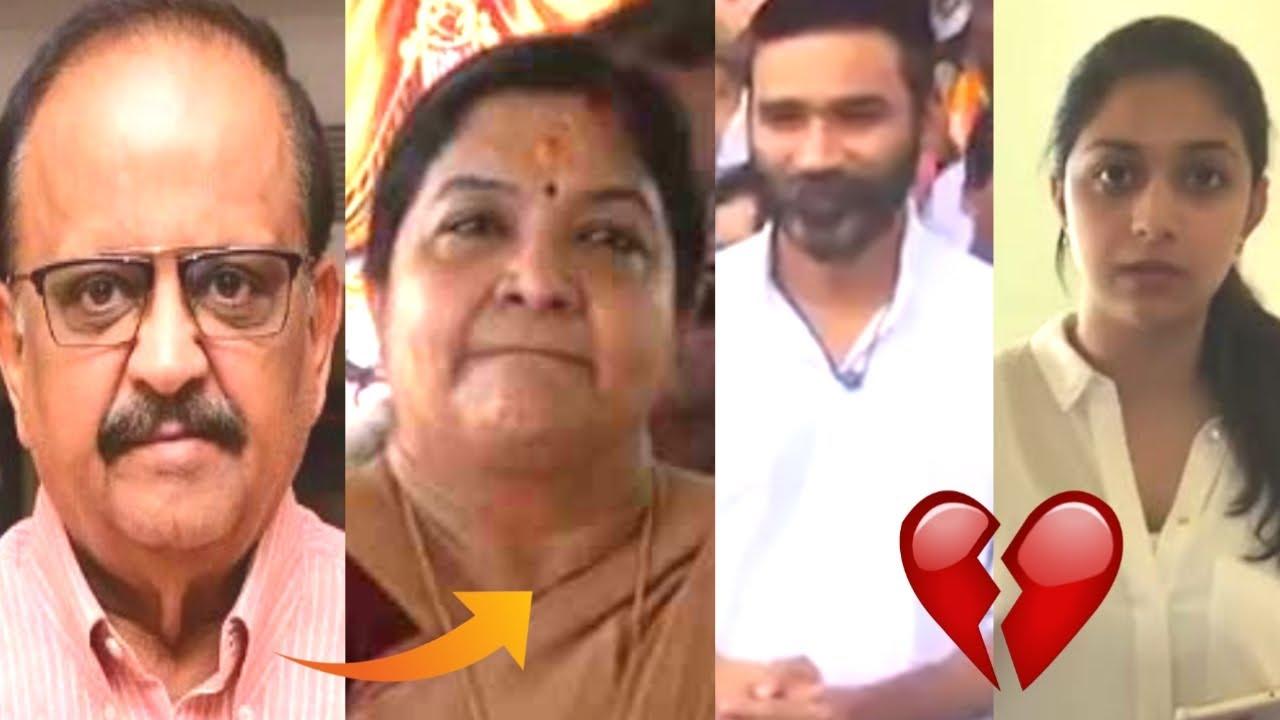 பிரபலங்களின் அஞ்சலி : singer chitra, dhanush, keerthi suresh, anushka and samantha   SPB   majatamil