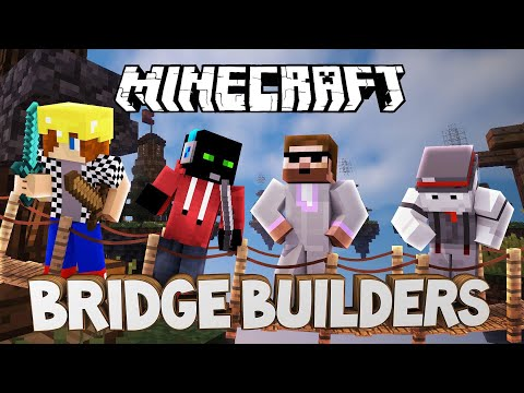 RETARDOVANÁ NĚMČINA | Minecraft Bridge Builders | Pedro, Marwex, Kelo a Bauchyč