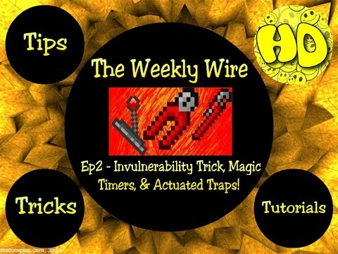 Terraria: The Weekly Wire Ep2 - Timers, Invul Trick, & Actuated Traps! (1.2.4.1 update)
