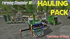 Farming Simulator 17 Amazing Transport Pack To Haul Forestry Equipment, Lowboy & Actros MP4 Mods