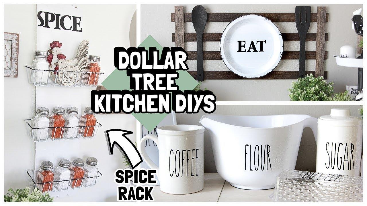 dollar tree kitchen diys 2019 spice rack rae dunn kitchenware