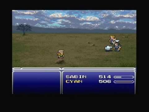 Final Fantasy VI 6 Part 9 World Of Balance Sabin's Quest Barren's Falls)