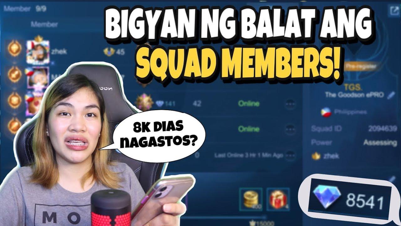 Bigyan ng BALAT ang Squad Members (MLBB)