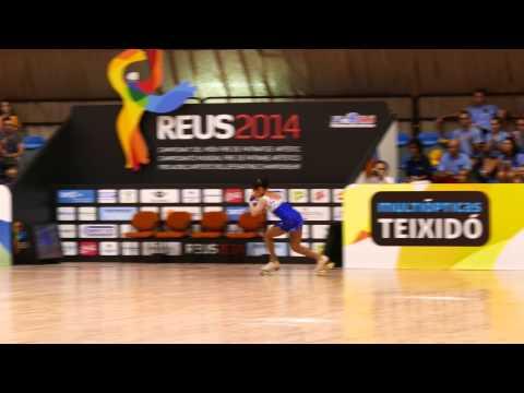 Debora Sbei #Reus2014  Video 4K  UltraHD  Campeonato Mundial de Patinaje Artístico  Final Corto Feme