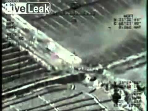 USAF MQ-1 Predator Drone Engage Insurgents & Insurgent Vehicle. Afghanistan