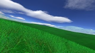 Green Fields 3D Screensaver for Windows HD