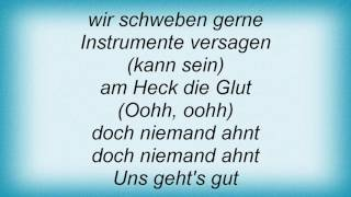 And One - Uns Geht's Gut Lyrics