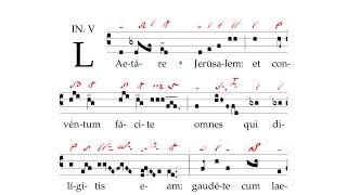 Introitus: Laetare Ierusalem
