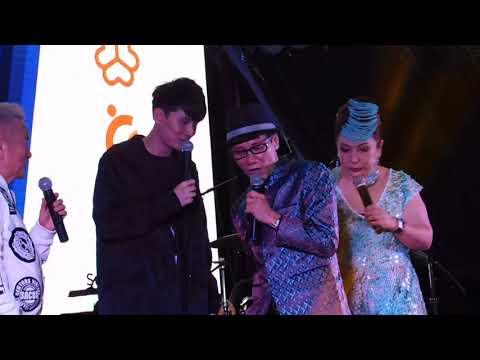 Bukit panjang 技能创前程歌台秀全场司仪王雷和陈建彬和刘玲玲请来一位歌手饶子杰