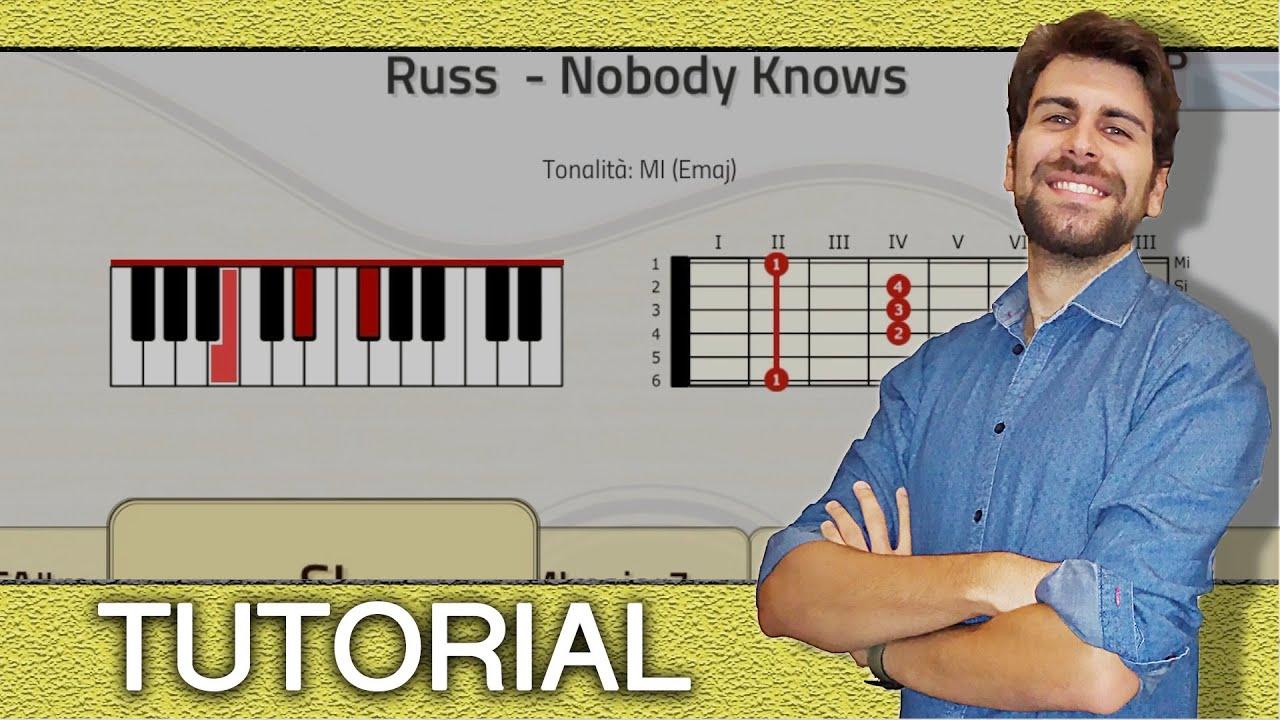 TUTORIAL Russ   Nobody Knows Piano & guitar   Chords