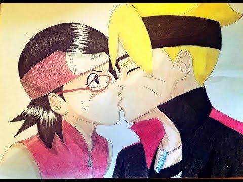 Boruto and Sarada Kiss