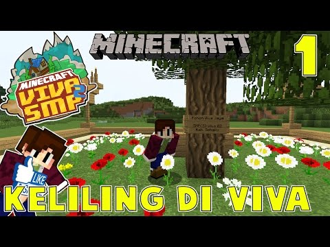 KELILING DI VIVA WITH NEVINGAMING - Minecraft Indonesia : VIVA SMP SEASON 2 #1