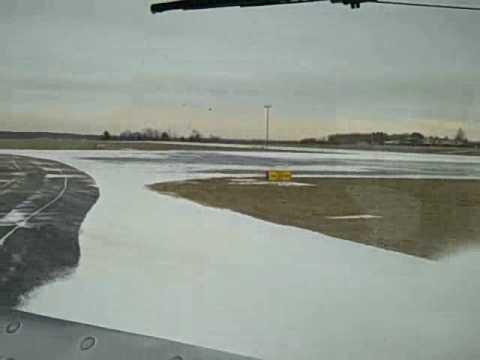 Akron-Canton Airport - sweeper clears the runway