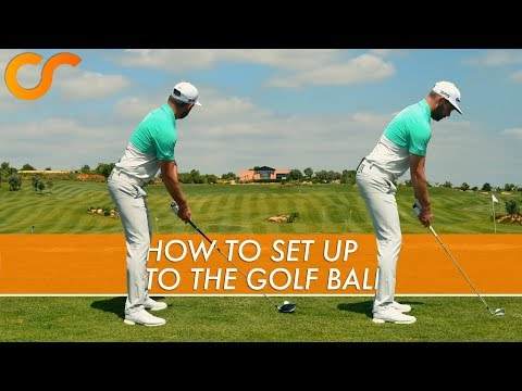 HOW TO SET UP TO THE GOLF BALL