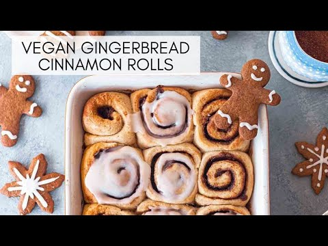 Vegan Gingerbread Cinnamon Rolls | Rainbow Nourishments