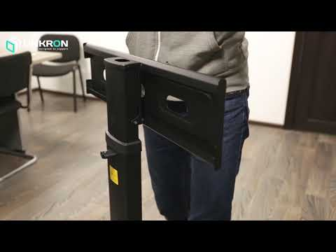 Video Installation Instruction - Assembly of ONKRON TS2551 Mobile TV Cart TV Stand.