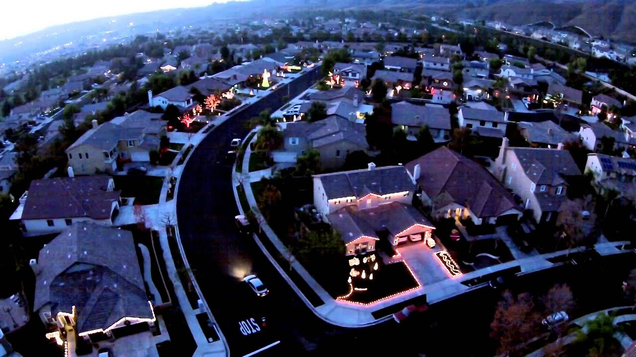 Christmas Light Display as Seen by Drone Wizards in Winter - YouTube