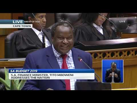 SA Finance Minister Tito Mboweni delivers 2019 budget speech (Full speech)