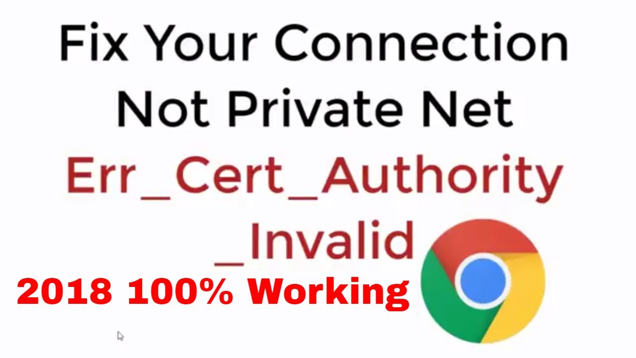 FIX Your Connection is not Private net err_cert_authority_invalid 2019 100%  Work Google Chrome