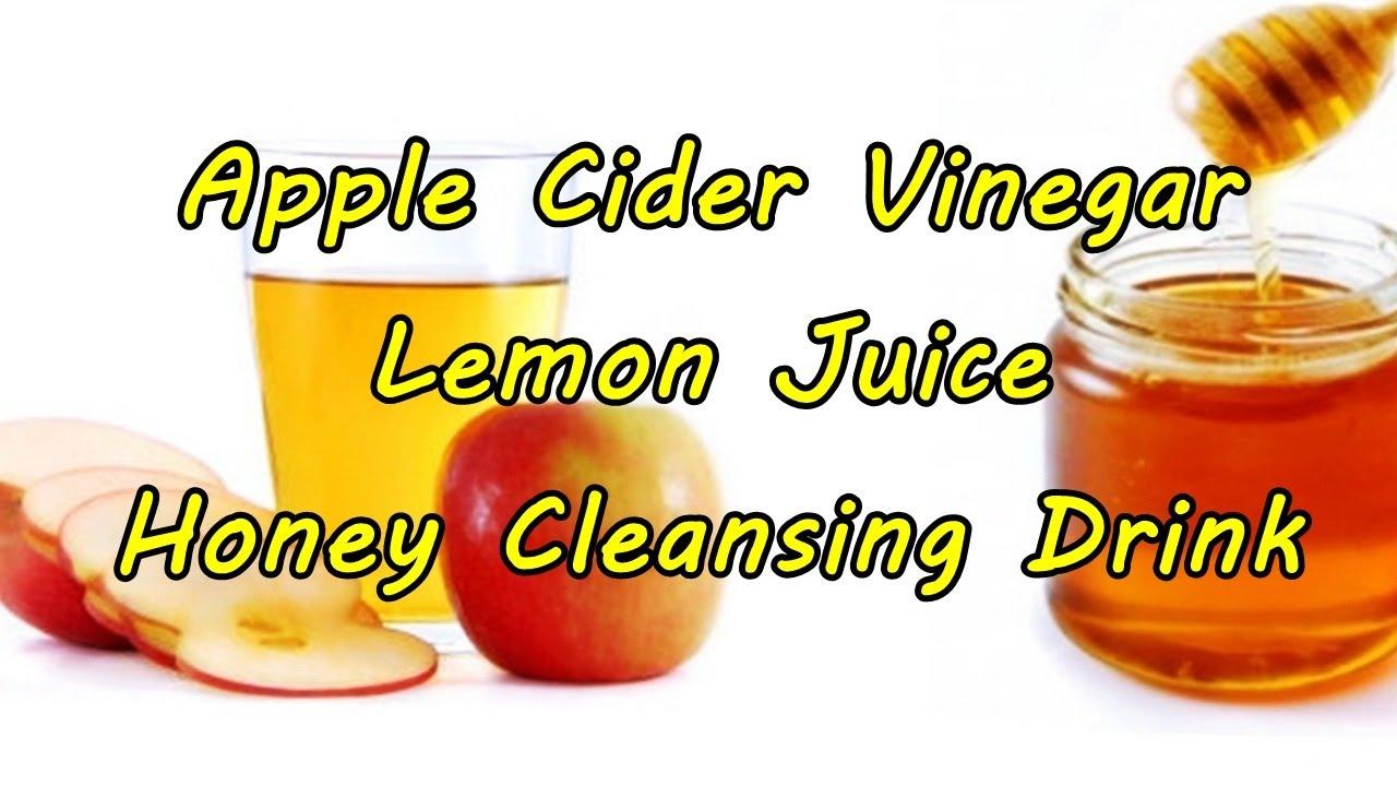 Apple Cider Vinegar Lemon Juice Honey Cleansing Drink ...