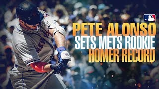 Alonso does it again! Pete Alonso breaks the Mets' rookie home run record!