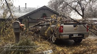 Canadian & Oklahoma County Ok Ice Storm Aftermath - 11/28/2015