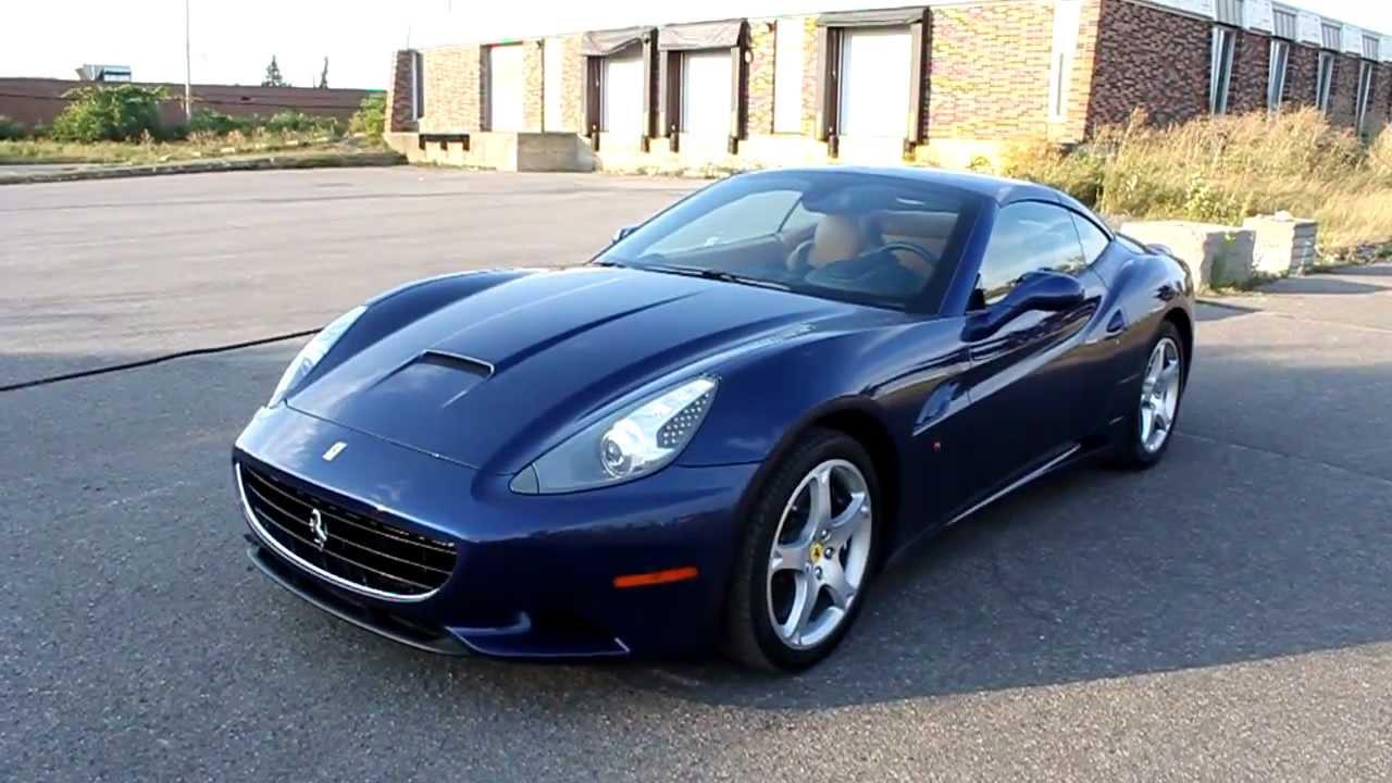 Dark Blue Ferrari California In Montreal Canada Youtube