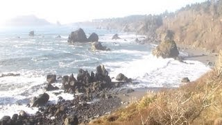 Video Postcard - Walking Tour North Coast California - Luffenholtz - January 19, 2013