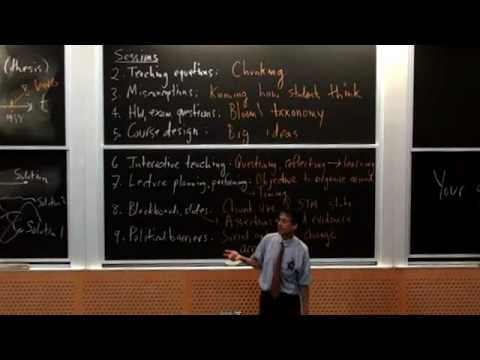 Lec 10 | MIT 5.95J Teaching College-Level Science and Engineering, Spring 2009