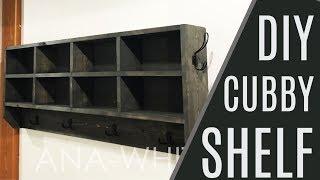 DIY: $40 Cubby Shelf Organizer