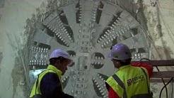 L'arrivée du tunnelier Nolwenn à la station Viroflay - Rive Gauche